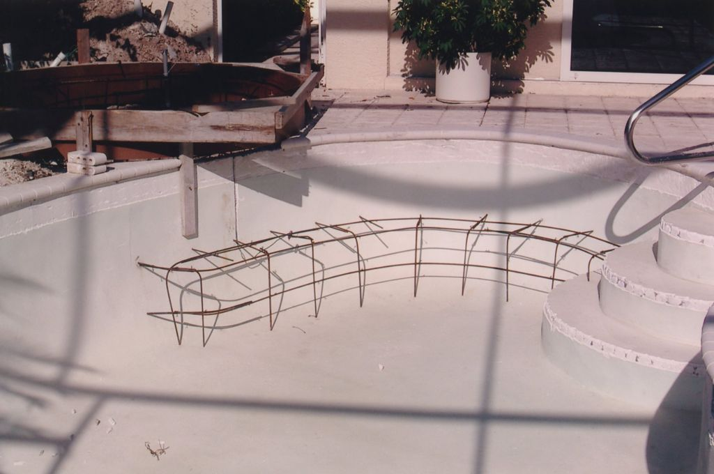 Swimming Pool Construction Add A Bench Steps Seven Star